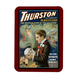 Poster mágico del vintage, Thurston, el gran mago Imán Rectangular