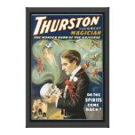 Poster mágico del vintage, Thurston, el gran mago Impresion De Lienzo