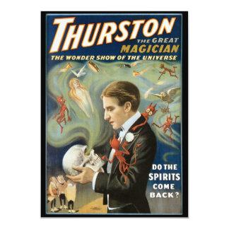 """Poster mágico del vintage, Thurston, el gran mago Invitación 5"""" X 7"""""""