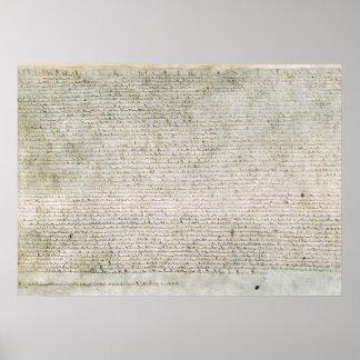 Poster Magna Carta the Charter of Liberties 1215