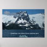 Poster magnífico de la naturaleza de Alaska