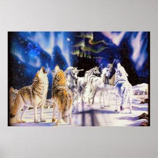 Poster majestuoso de los animales