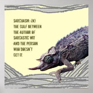 Poster malhumorado del camaleón de Sarchasm