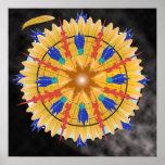 Poster - mandala - pluma de oro