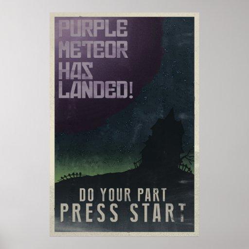 Poster maniaco del vintage de la mansión