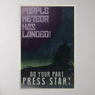 Poster maniaco del vintage de la mansión póster