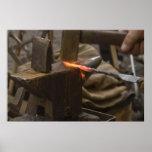 poster manual del trabajo del martillo del hierro