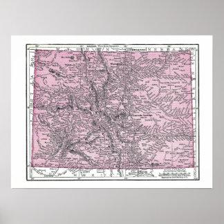 Poster Mapa de Colorado 1921