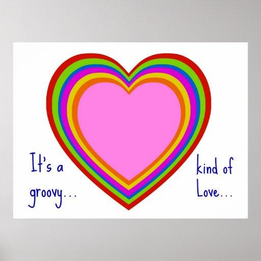 Poster maravilloso del amor