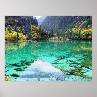 Poster maravilloso del lago