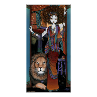 Poster más doméstico bohemio de Fae de león del ci