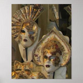 Poster--Máscaras venecianas Póster