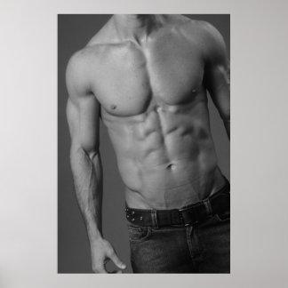 Poster masculino #4 del modelo de la aptitud