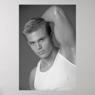Poster masculino #9878 del modelo de la aptitud