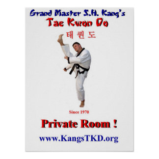 Poster-Master Perry Front Kick-Private Room Poster