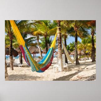 Poster maya colorido de Cozumel México de la hamac