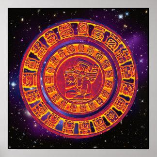 Poster maya del calendario de la largo-cuenta póster