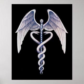 Poster médico del negocio del negro del símbolo de