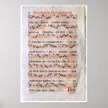 Poster medieval de la cuenta de la música