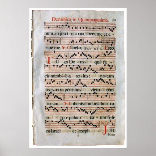 Poster medieval de la cuenta de la música póster