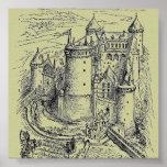 Poster medieval del castillo