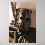 poster medieval viejo de la máscara