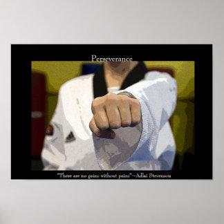 Poster medio del sacador de los artes marciales