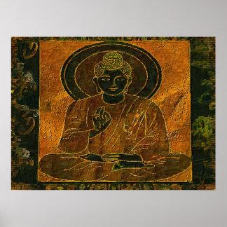 Poster Meditating Buddha3