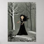 Poster melancólico del chica del gótico rústico