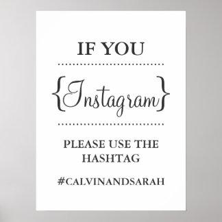 Poster - mensaje de Instagram
