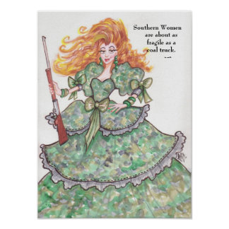 Poster meridional de las mujeres