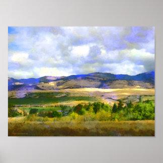 Poster meridional del paisaje de Oregon