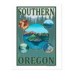 Poster meridional del viaje de OregonScenic Postales