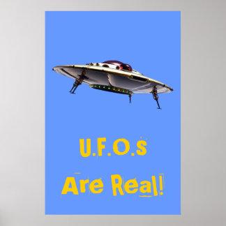 Poster metálico del UFO