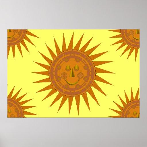 Poster mexicano de Sun del calendario