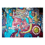 Poster mexicano indio azteca del arte del alto sac