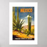 Poster México del viaje del vintage