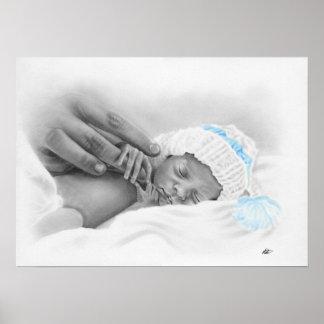 Poster micro el dormir del bebé