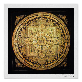 Poster Mil-Armado de la mandala de Avalokiteshvara