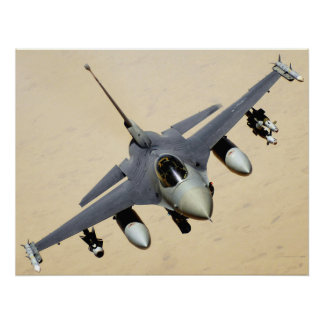 Poster militar del avión de reacción