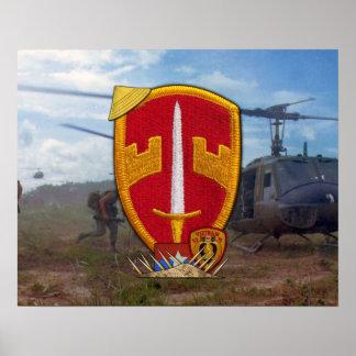 Poster militar del remiendo de la guerra de Vietna Póster