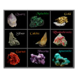 Poster mineral de la colección