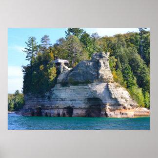 Poster/Miners Castle Upper Peninsula Michigan Poster