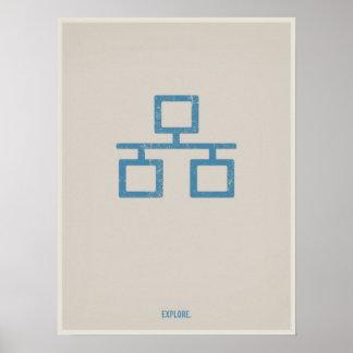 Poster minimalistic de Ethernet