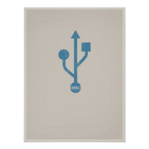 Poster minimalistic de USB