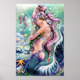 Poster minúsculo del dragón del mar