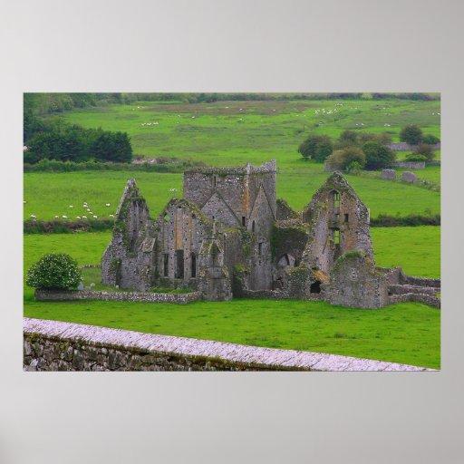 Poster misterioso 8,60 del castillo de Irlanda