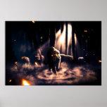 Poster misterioso de los tigres del bosque