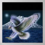 Poster místico del halcón