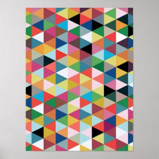 Poster modelado triángulo geométrico colorido